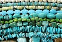 beads-turquoise / by Lunar Amulet Co.