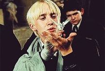 Draco Malfoy / Draco Malfoy, is The Golden Trio's Enemy (other than The Dark Lord). I LOVE Draco Malfoy.