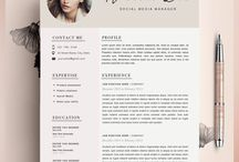curriculum vitae / Modern and special CV designs to let you stand out!