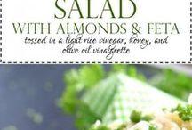 Salads / Cold salads, side dish salads, dinner salads, fresh fruit salads, fresh veggie salads.