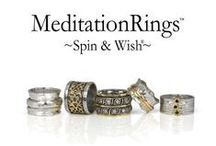 Meditation Rings / Meditation Rings are based on the ancient Tibetan Prayer Wheels. The practice of turning the prayer wheel helps increase good karma and purify negative thoughts. Based upon these same principles our Meditation Rings are designed to have one or several outer bands that you can physically spin around the actual ring, this is said to bring the wearer good luck and fortune and a sense of serenity and peace. Find Meditation Rings at La Creme in St Jacobs www.lacremedecor.com
