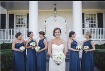 Real Weddings: Katie + Steve / Katie and Steve had a gorgeous country club wedding on October 26, 2013 at the Old South Country Club in Maryland. We were big fans of all the fine details from the bridesmaids' matching robes to the Unplugged Ceremony! Katie's bridesmaids wore our styles in Skipper.