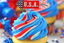 Red White Blue Holiday Sweets / Red White and Blue Everything from Sweets to DIYs and everything in between for Memorial Day and Fourth of July!