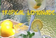 Drinks - Summer Drink Recipes / Refreshing Drinks, teas, lemonades, healthy infused 'spa' water - many quick & easy to make for summer entertaining to keep everyone cool.
