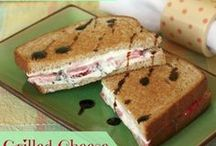 Grilled Cheese Sandwiches, Savory & Sweet / Grilled Cheese Sandwiches for breakfast, lunch, and dinner both Savory & Sweet Sandwiches! April is National Grilled Cheese Month!!