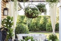 Taking the Inside Out / Fantasy outdoor spaces. I love these outdoor rooms, but the weather in the UK isn't ideal!