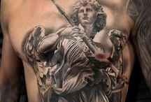 Tatuajes sobre el arte clásico / Tatuajes inspirados en el arte clásico y en la cultura griega y romana.
