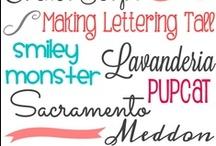 DIY-Fonts