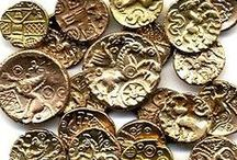 Coins Monedas Numismatic Currency / Numismatics is the study or collection of currency, including coins, tokens, paper money, and related objects. нумизматическийb  / by Keith Pings