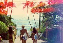 California Beach Style / Sunshine, bikinis, surfing, skating = California beach style!
