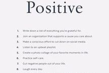Positive Thinking / Always think positive! positive life, positive thinking, happiness, optimism, positive affirmations, mindset, positive thoughts, inspiration
