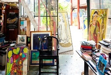 Craft rooms and studios / by Harriet Swindell