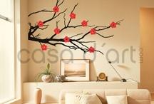 Tree, flowers wall decor