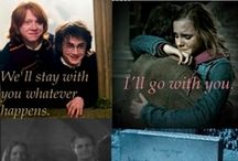 """Harry Potter / 10 years of watching them grow, of inspiration, love and laughter. Hogwarts will forever be our home.   """"Do not pity the dead Harry.  Pity the living, and, above all, those who live without love.""""- Dumbledore  """"It is our choices...that show what we truly are, far more than our abilities.""""- Dumbledore """"If you want to know what a man's like take a look at how he treats his inferiors not his equals""""- Sirius"""
