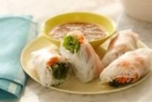 spring rolls and sushi / by Wendy Janzen