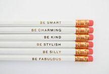 Inspiration - Crayons, Papiers