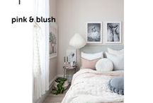 PINK & BLUSH / #pink #peach #bedroom #girlsbedroom #toddler #teen #teenbedroom #teengirlbedroom #blush #bedroomdecor #decor #home #design #babypink #realroom #babygirl #babyroom #children #parenting #decorating #grey #soft #warm  #cozy #bedding