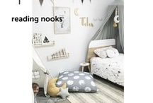 READING NOOKS / Beautifully designed spaces within spaces for reading, playing and sneaking cuddles.