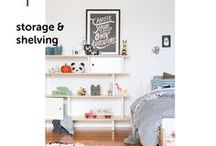 STORAGE & SHELVING / Storage & shelving solutions for your kids rooms.