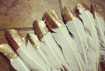 handmade / Gold tipped feathers, beautiful garlands and every wonderful craft you can imagine