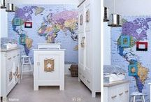 Home Decor: Twins' Room / Americana, Maps, Vintage Aviation
