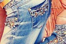 DemDenim☝Jeans / styles & jean crafts✌ / by Jessica Martigani