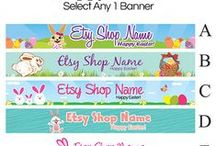 Holiday and Seasonal Etsy Banner Designs / Creative designs for Etsy sellers to use to decorate their shops!  For more Etsy shop banner designs, visit RhondaJai.etsy.com