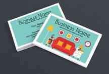 Business Card Design Templates / Browse creative business card templates and ideas for your handmade or indie business.  These professional business card templates are available on: http://www.zazzle.com/rhondajaidesigns and http://www.rhondajaidesigns.com