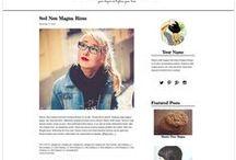 Clean Minimalist Blog Designs