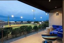 AMLI at the Ballpark / Our Luxury Frisco apartments, AMLI at the Ballpark features a spectucular view of Dr Pepper Ballpark that residents can enjoy along with the Ballpark's unique amenities and appealing interior design.