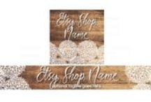 Rustic Etsy Banners / Quality Etsy banner designs to create a rustic look for your Etsy shop.