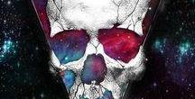 skulls and rock
