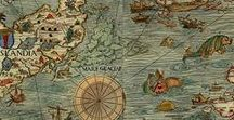 """Map of Dreams / """"It's not down in any map. True places never are."""" - Herman Melville."""