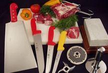Εξοπλισμός κρεοπωλείου / Μεγάλη ποικιλία σε επαγγελματικά μαχαίρια,και εργαλεία για το κρεοπωλείο.