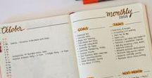 Monthly - Bullet journal / Toutes les présentations et façons de commencer un nouveau mois dans son Bullet journal.