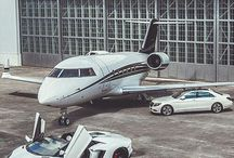 Cars and private planes