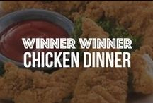 Winner Winner Chicken Dinner / Making chicken or turkey for dinner is easier than pie with our delicious frozen meats and meal ideas. Our tender and juicy white meat, breasts, wings, nuggets and more are quick and easy staples for any home! / by Schwan's Home Service