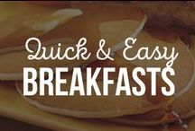 Quick & Easy Breakfasts / Good morning to you! Start your day off right with these fast and easy dishes you can whip up in a flash, half awake, pre-coffee.  / by Schwan's Home Service