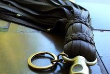 Gifts for Him / cool leather fashion accessories for men; cuffs, necklaces, and other doohickies