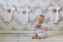 Baby Monthly Update Ideas / Your baby's first year will fly by so fast that you will find yourself wanting to document every growth spurt! Here you will find ideas and products to produce memories for years to come.