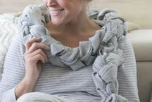 Crafts - Scarves and Hats / All types of no sew scarves and hats / by Heather Gallagher