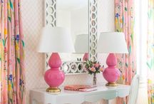 Pink. / Color. Art, inspiration, creativity, & color combinations. Art. Design. Interiors.