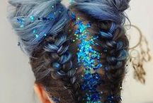 GLITTER hair / There can't be too much glitter and bling in your hair. Never! Inspiration for glamorous hair.