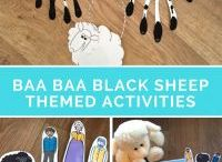 Baa Baa Black Sheep Themed Activities for Kids / A collection of Baa Baa Black Sheep themed activities for kids based on the nursery rhyme! Find games, activities & resources for babies / toddlers / preschool here.