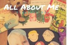 All About Me Themed Activities for Kids / A great collection of All About Me themed activities for kids! Find games, activities & resources for babies / toddlers / preschool here. Help toddlers learn their name, body parts, family members and more!