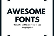 Awesome fonts / Fonts can portrait emotions. Thats why I collect and buy a lot of fonts. Awesome fonts for designing and decorative purposes.