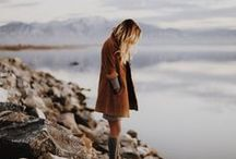 Fall wardrobe + winter fashion / Fall wardrobe inspiration, winter style and fashion. A beautiful mix of outfits based around boots, jackets, long skirts, leggings, scarves, sweaters and other cozy and comfy layers.