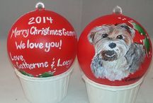 Pet Christmas Ornaments / Pet Christmas ornaments   Custom pet christmas ornaments  from your favorite photo!  Only $55.  Email meredith@megapetportraits.com today!