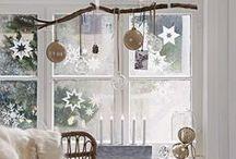 Noel scandinave / Pour une décoration de Noël de type scandinave et naturelle #noel #scandinave #nature #DIY