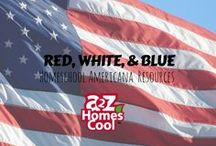 Red, White, & Blue -  Homeschool Americana Resources / USA holiday activities and lesson ideas!